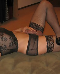 These crossdresser love to show off their dicks and sexy lingerie.