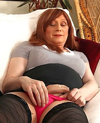 Luci May loves wearing stockings and suspenders for a night out, but a pair of holdups are just so much more practical for a girl about town. These fu