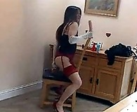 Kirsty rides her dildo like a real pro and loves it