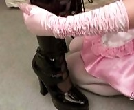 Lucimay dommes her maid and gets her cock sucked