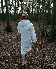 Tgirl Lucimay takes a walk in the woods and sucks cock
