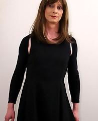 Lucimay slowly takes off sleek black dress teasing you