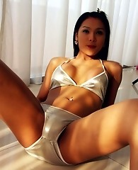 Innocent looking asian shemale with great body