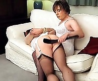 TGirl Lucimay loves to get bent over and have her cute ass spanked hard
