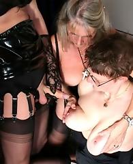 Lesbian sluts get to taste Yvettes hard cock