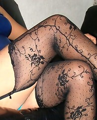Horny pantie boy lifts his skirt and shows his sexy blue panties