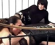 Strapon Jane puts her monster rubber cock to work and fucks a sissy