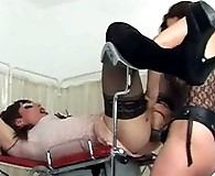 Gorgeous Femdom Jane gets to fuck this TGirls tight little ass hard