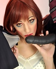 This lucky femdom gets to feel Janes hand and strapon