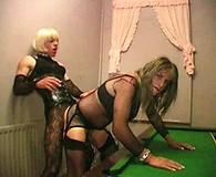 TV Slut Zoe Fuck Puppet gets her big 9 inch cock sucked by this slutty crossdresser